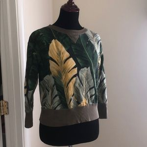 Tropical Ralph Lauren sweater sz M